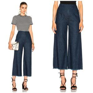 Citizens Of Humanity Raw Hem Palazzo Crop Jeans